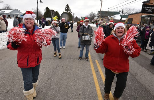 A six-piece marching band complete with pon pom girls from the Teofilo and Bock-Byrnes families of Milwaukee marched in a past New Year's Day Parade in Egg Harbor. Anyone is welcome to march or enter a float in the annual parade, which starts at 1 p.m. Jan. 1
