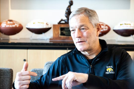 Kirk Ferentz, with 161 wins at Iowa, has sailed past Hayden Fry's 143 but isn't ready to slow down. He'll be back for a 22nd season in 2020.