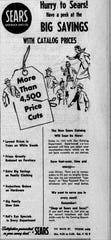 An ad for the Sears Catalog that ran in the Lancaster Eagle-Gazette on March 15, 1955.
