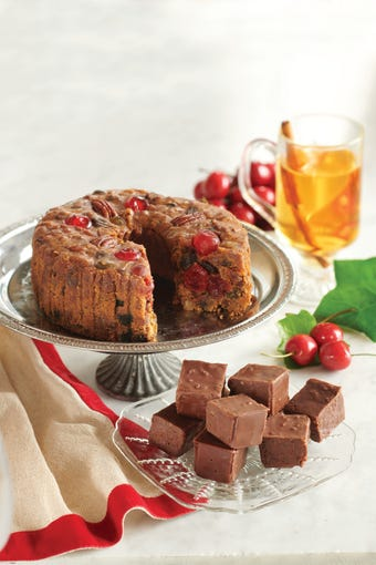 Gethsemani Farm in Kentucky makes thousands of pounds of this boozy fruitcake each year.