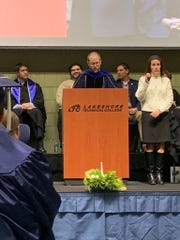 Keynote speaker Tim Schneider, CEO and co-founder of Investors Community Bank, advised graduates that learning should not stop with graduation.