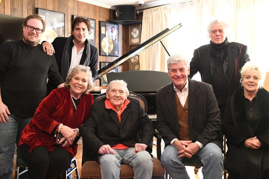 Jerry Lee Lewis honored during Mississippi Country Music Trail marker ceremony. Front Row: Judith Lewis, Jerry Lee Lewis, Gov. Phil Bryant, Connie Smith. Back Row: Jerry Lee Lewis III, Steve Azar, Marty Stuart.