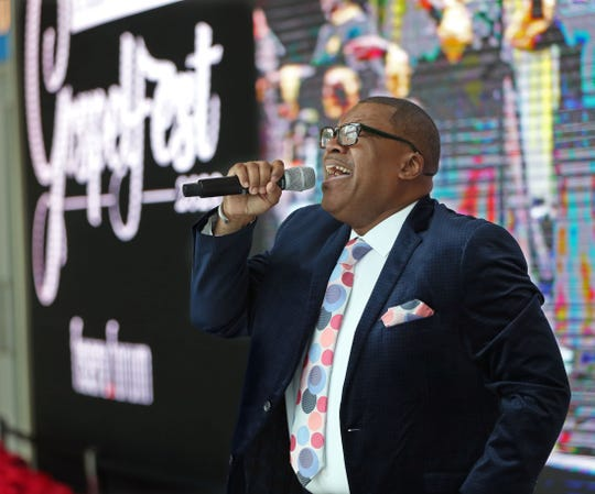 Milwaukee gospel singer Tony Neal performed during a press announcement that Fiserv Forum will host GospelFest 2020 on April 10. Neal will be part of the extravaganza.
