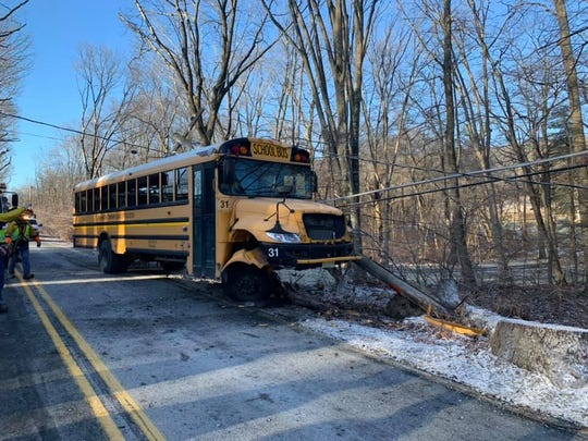 No injuries reported during a bus crash accident on East Valley Brook Road in Long Valley.