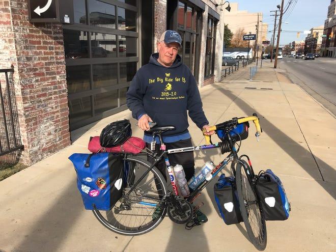 Rob Freed in front of Bibbs Street Pizza Company Friday.