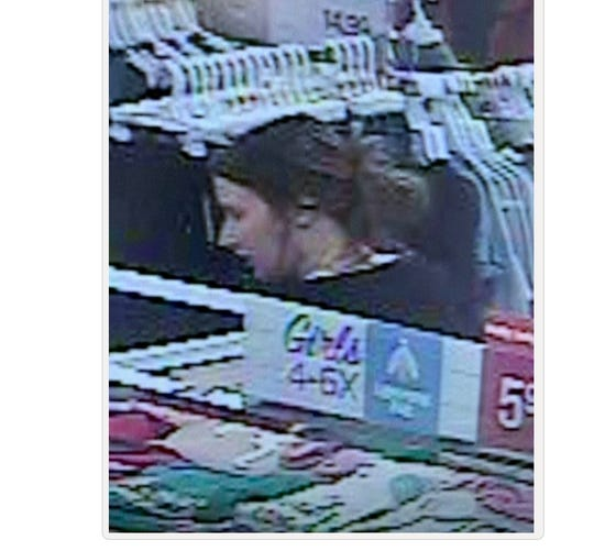 This woman, suspected of shoplifting $700 of merchandise from Belk, is sought by Prattville police.