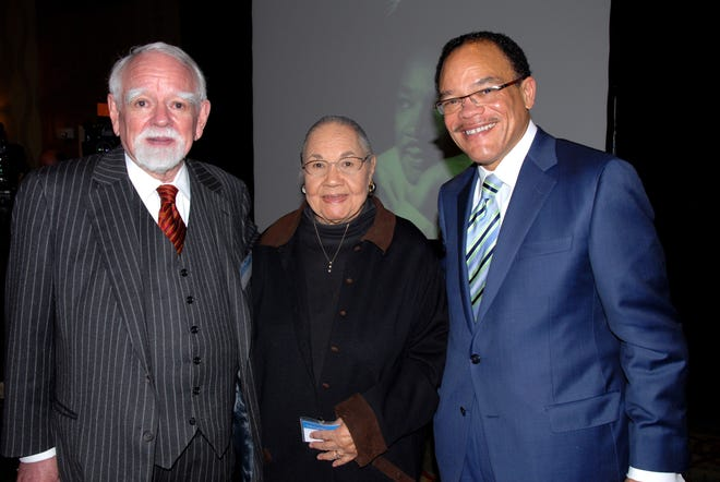 Judge John Nixon, left, Inez Crutchfield and Waverly Crenshaw at Dr. Martin Luther King Jr. tribute luncheon, hosted by Waller Lansden Dortch & Davis, at the DoubleTree by Hilton Hotel Nashville Downtown.