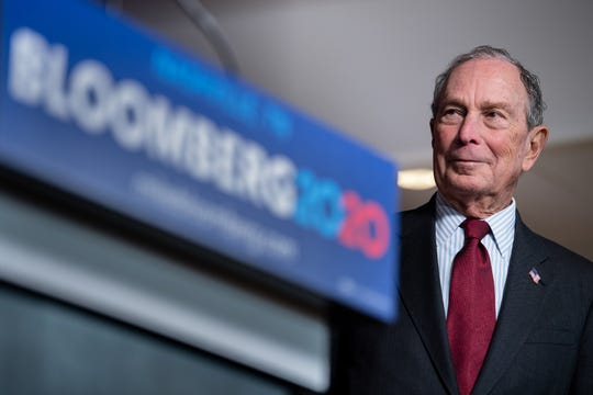 Democratic Presidential candidate Mike Bloomberg listens as he is introduced during a campaign event at Woolworth on 5th in Nashville, Tenn., Thursday, Dec. 19, 2019.