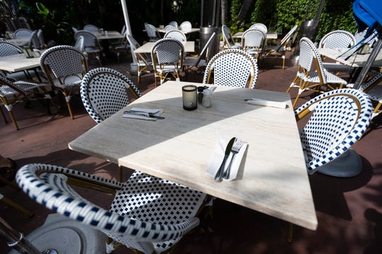 The Dock At Crayton Cove has new dining sets in its outdoor seating area on Friday, December 20, 2019, in Naples.