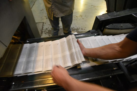 Newspaper production process at the Rockaway facility