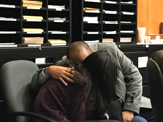 Michael Ramirez and Trystal Lozada during sentencing