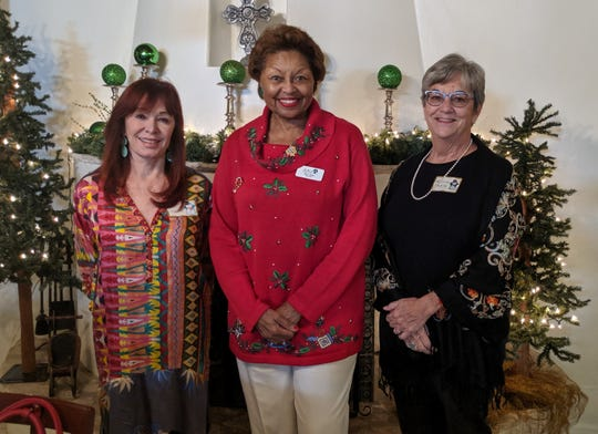 Christa Slaton, Co-President Las Cruces Branch, Julia Brown and Laura Bemis