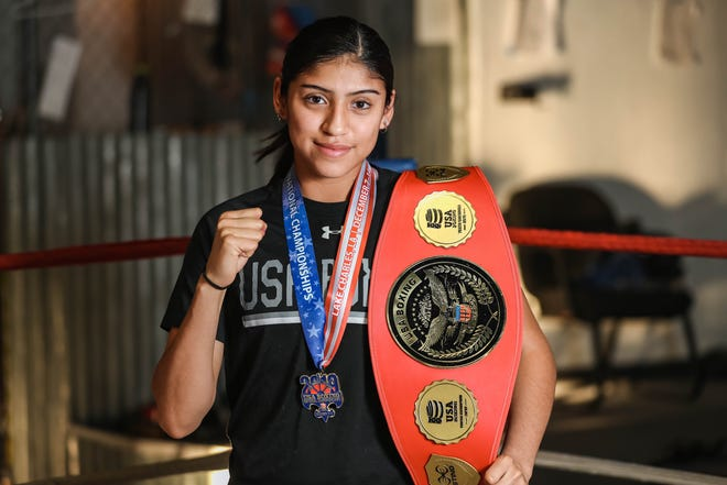 Ariana Carrasco is pictured at her gym House of Pain, in Las Cruces on Friday, Dec. 20, 2019. Carrasco is a junior boxer with plans to compete at the 2024 Olympics.