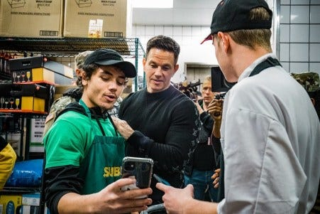 The Army & Air Force Exchange Service officially welcomed Wahlburgers to the military family with a preview party hosted by famous brothers and restaurant co-founders Mark Wahlberg and Paul Wahlberg.
