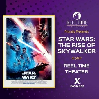 "The force will be strong with 10,000 deployed service members during free first-run screenings of ""Star Wars: The Rise of Skywalker"" thanks to the Army & Air Force Exchange Service and The Walt Disney Studios."