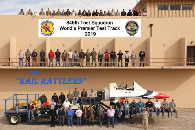 "A few miles north of main base at Holloman Air Force Base in the Tularosa Basin of southern New Mexico, the 846th Test Squadron, known as the ""Holloman High Speed Test Track,"" or more affectionately (and recently) the ""Rail Rattlers,"" prides itself on planning and executing high-speed rocket sled tests, enabling critical weapon system development in support of the warfighter."
