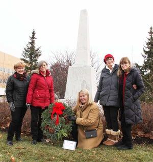 (From left) Debbie Harrington, 2nd Vice Regent, (Birmingham); Holly Heiss, 1st Vice Regent, (Birmingham); Lisa Milton, Regent, (Bloomfield Hills); Marcia Vetrone, (Troy); and Janet Ashley, (Bloomfield Hills).