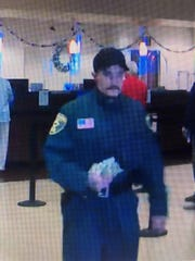 Palm Springs police are looking for the man who robbed a downtown park around 1:30 p.m. Thursday.