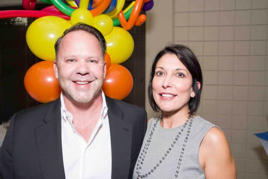 Stephen Simpson and his wife, Tina Tortomose, during the 2019 Light Up Learning fundraiser event.