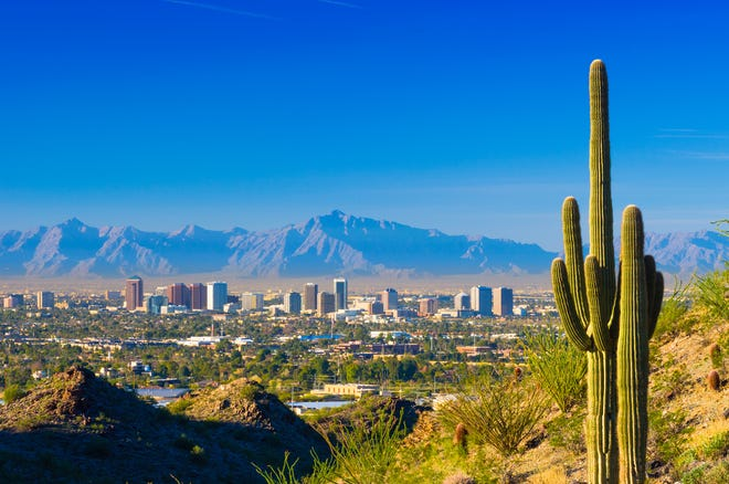 Phoenix midtown skyline.