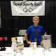 Brenden Hoogesteger stands at his booth at the PF Chang's Rock 'n' Roll Marathon in 2012.