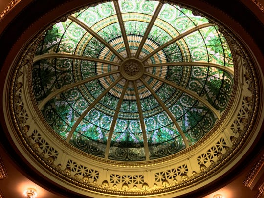 The dome inside the Pennsylvania Supreme Court is seen in this file photo.