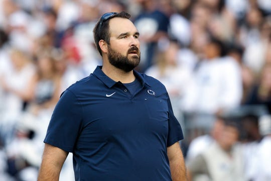Sep 7, 2019; University Park, PA, USA; Penn State Nittany Lions offensive recruiting coordinator and tight ends coach Tyler Bowen will serve as the interim offensive coordinator in the Cotton Bowl. Mandatory Credit: Matthew O'Haren-USA TODAY Sports