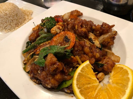 Order of crispy cashew chicken, a specialty at Rose Garden.