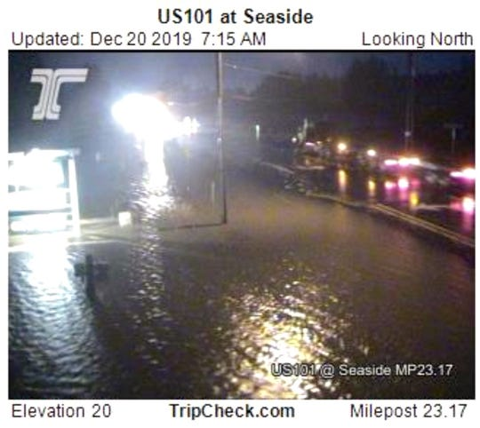 Images of minor flooding near Seaside Friday morning as the Necanicum River runs high.