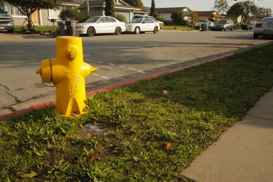 A fire hydrant in the Santa Rita neighborhood is one of four being replaced with new ones during the installation of new piping in December 2019.