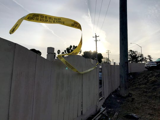 On Dec. 19, 2019, a 27-year-old man was shot and killed in the 700 block of Garner Avenue. The next day, crime scene tape remains at the scene.