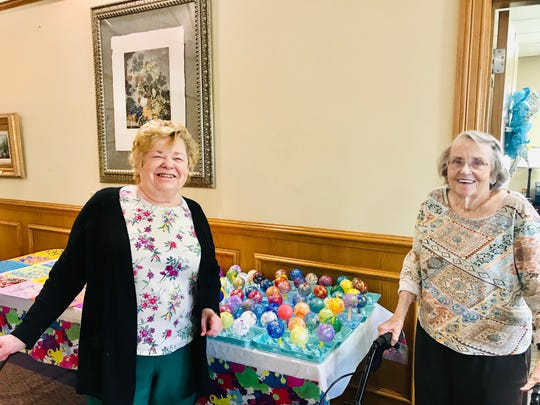 Residents of Baptist Retirement Community in San Angelo enjoy art classes on Thursdays. Residents recently painted ornaments for the holidays and made cards for employees as Christmas gifts.