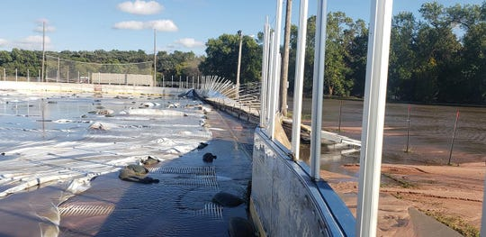 The flooding in September left the Brandon Valley outdoor hockey rink in shambles.