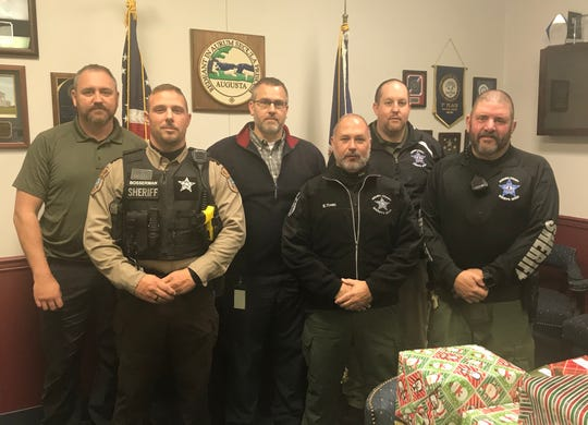 Nearly 40 deputies have grown facial hair at the Augusta County Sheriff's Office in a fundraiser for charity. Pictured left to right: Inv. Connor Tobin, Deputy Matthew Bosserman, Lt. Aaron Le Veck, Deputy Eddie Trott, Sgt. James Snyder and Deputy David Lotts.