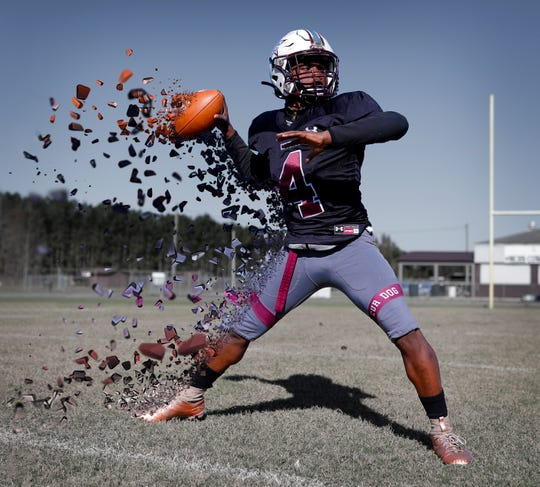 Madison County senior quarterback Vinsonta Allen was named the 2019 All-Big Bend Offensive Player of the Year in football after rushing for 1,427 yards and 23 touchdowns while completing 62 percent of his passes for a school-record 1,533 yards with 24 touchdowns and just five interceptions during the CowboysÕ Class 1A state championship season.