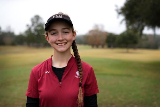 Chiles freshman golfer Sabree Lefebvre is the 2019 All-Big Bend Player of the Year in girls golf after leading the area in nine-hole scoring and winning six individual rounds, including the Big Bend tournament with a round of 74.