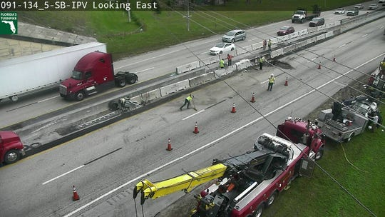 A crash involving a truck in Martin County on Florida's Turnpike south had all lanes blocked on December 20, 2019. The blockage is between exits 133 and 138.