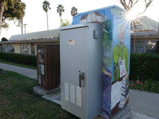 A battery pack was recently installed over art on a Ventura utility box honoring the late Steve Cummings. The city is working with the group that funded the project to resolve the situation.