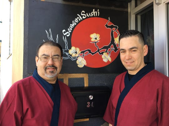 Brothers Gabriel Barrios, left, and Oscar Barrios are the new owners and chefs at Seaward Sushi in Ventura.