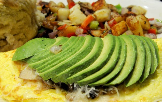 The California omelet is ready to be served at Black Bear Diner in Simi Valley. Breakfast and lunch are served all day at the bear-themed restaurant.