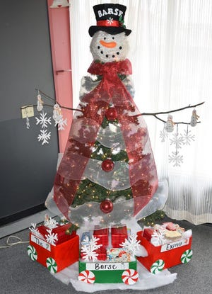 Dane Barse Elementary School's entry in Main Street Vineland's Christmas Tree Decoration Contest captured first place.