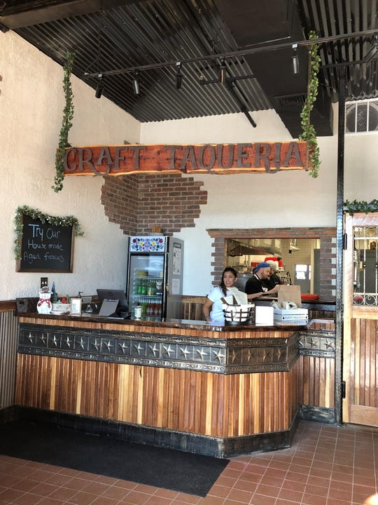 The interior of Craft Taqueria in New City.