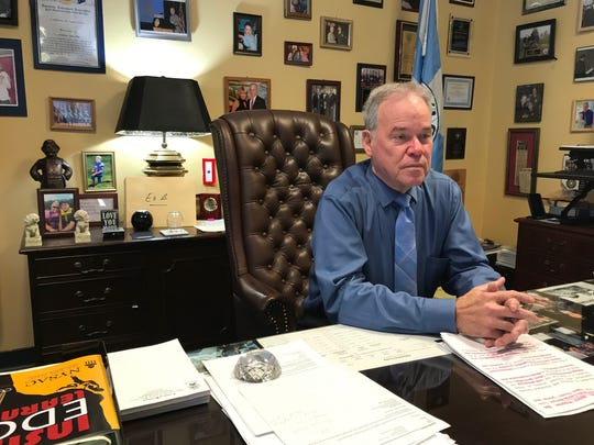 Rockland County Executive Ed Day talks about issues facing Rockland County in his office in New City Dec 17, 2019.