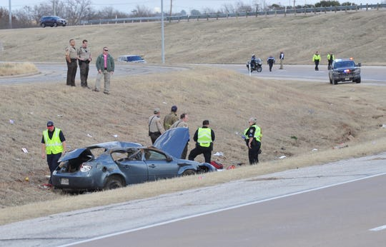 Wichita Falls police officers and Wichita County Sheriff's deputies responded to a reported fatal accident on Henry S. Grace Freeway at about 1:30 p.m. Friday. Multiple people were reported thrown from the vehicle with a juvenile dead at the scene.