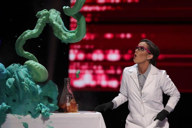 For her segment in the Miss America talent competition, Camille Schrier of Virginia performed a science experiment.