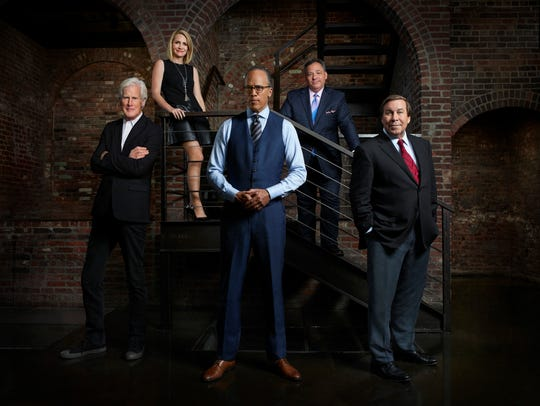 DATELINE NBC - Pictured: (l-r)  Keith Morrison, Andrea Canning, Lester Holt, Josh Mankiewicz,  Dennis Murphy -- (Photo by: Patrick Randak/NBC)