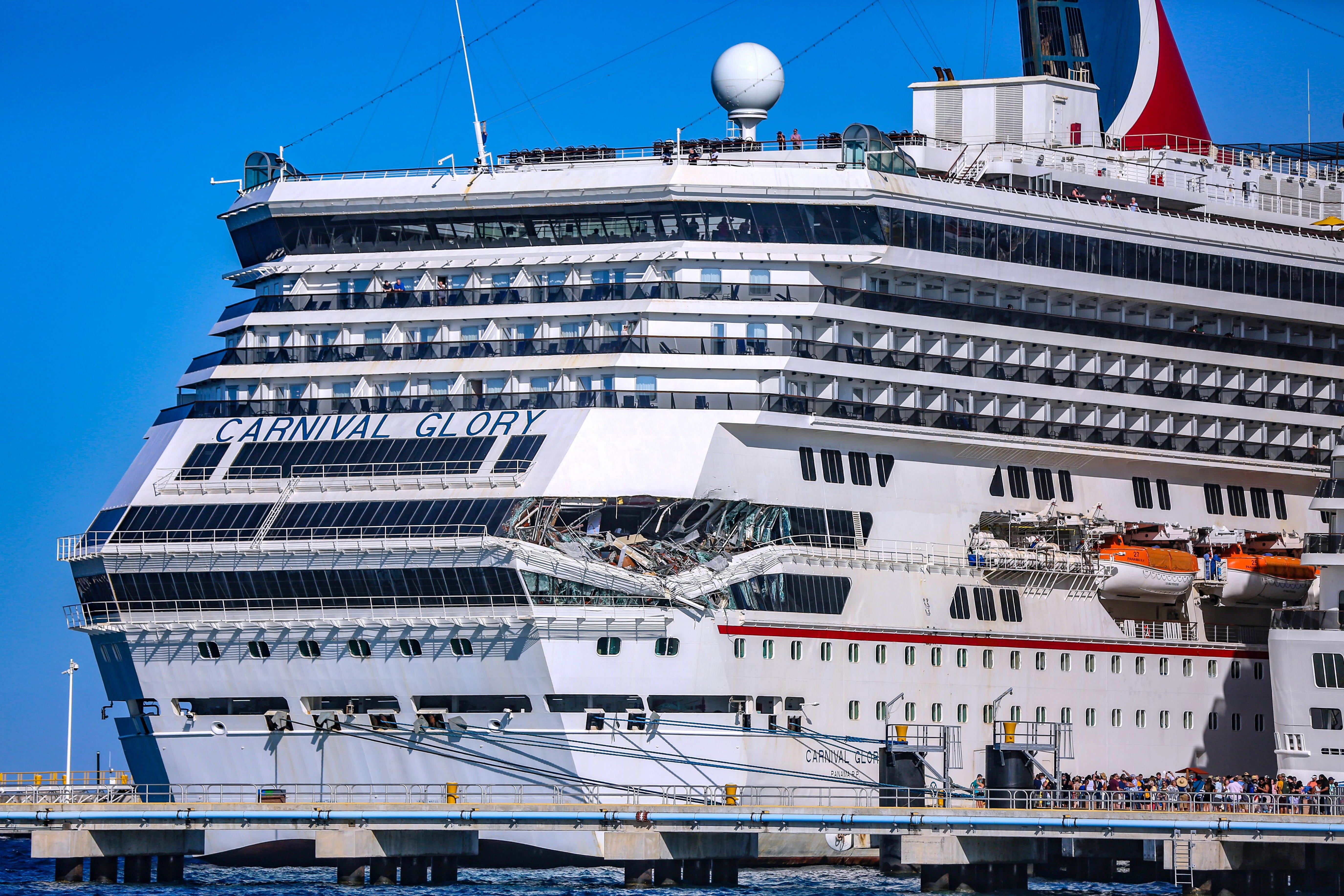 Carnival cruise ships collide: Glory sets sail after crash repairs