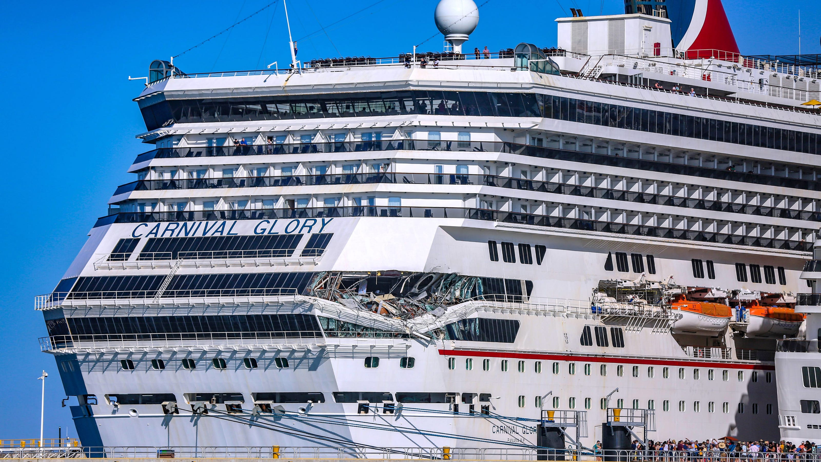 Carnival cruise ships collide: Glory sets sail after crash ...