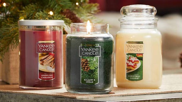 Yankee Candle large candles are on mega sale this week.