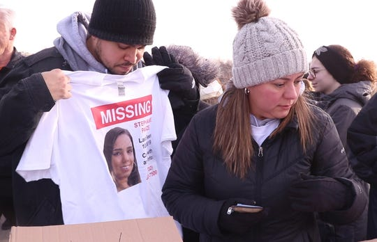 """The Parze family holds a rally at Freehold Township High School to keep the """"Bring Steph Home"""" effort going. Stephanie Parze was last seen in late October, the family and many volunteers continue to search for her. They hold hope that she will one day be found.    Freehold, NJSaturday, December 21, 2019"""